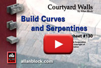 Building Patio Walls with Curves