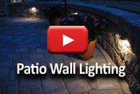 Add lighting to patio walls