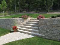 retaining wall stairs pattern